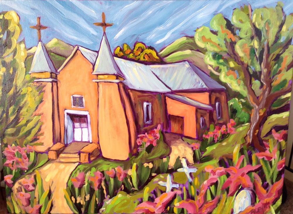 """San Ysidro church in Corrales New Mexico"" original fine art by Robyn Suzanne"