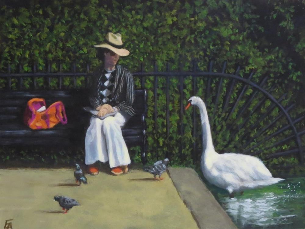 """The Conversation"" original fine art by Elizabeth Elgin"