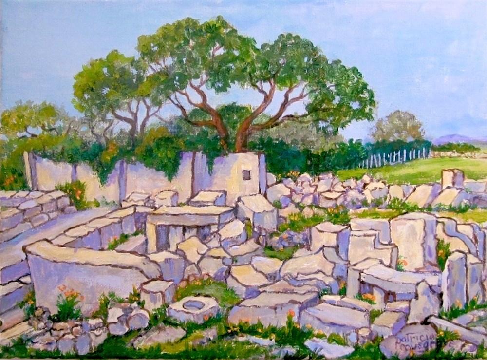 """Temple Ruins"" original fine art by Patricia Musgrave"