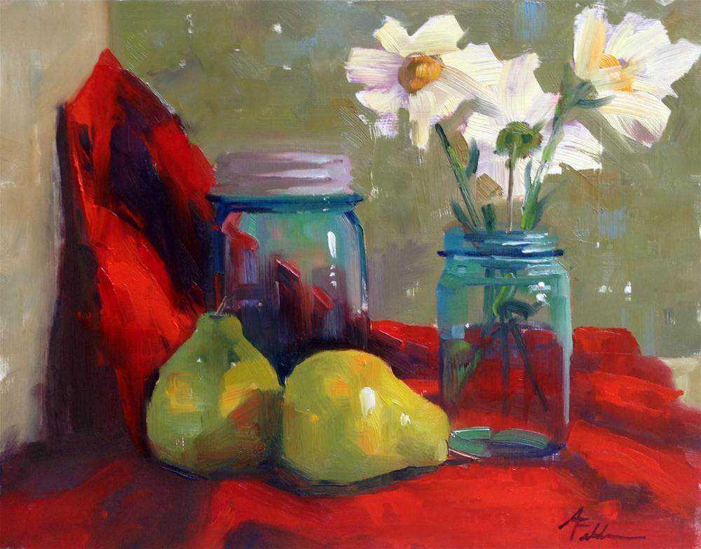 """Clear Blue Friends, 16x12"" original fine art by Ann Feldman"