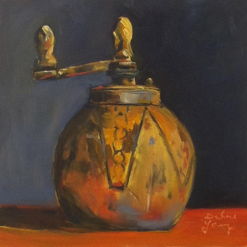 """619 Italian Pepper Mill"" original fine art by Darlene Young"