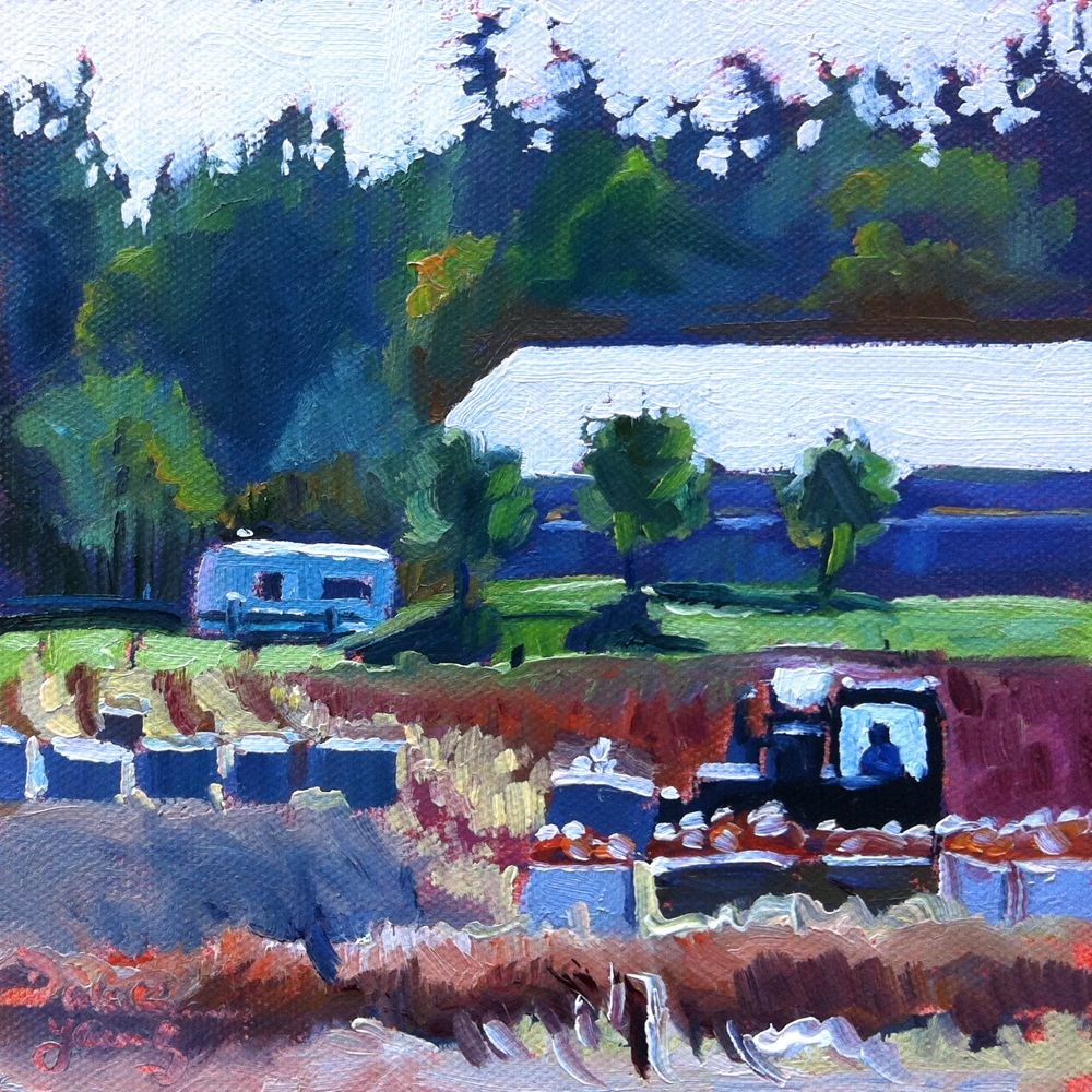 """""""540 Harvest at Michell's Farm"""" original fine art by Darlene Young"""