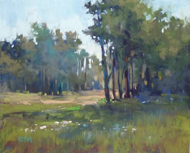 """Color Inspiration from a Plein Air Study"" original fine art by Karen Margulis"