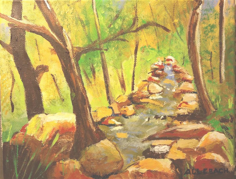 """""""Little Creek"""" original fine art by Jo Allebach"""