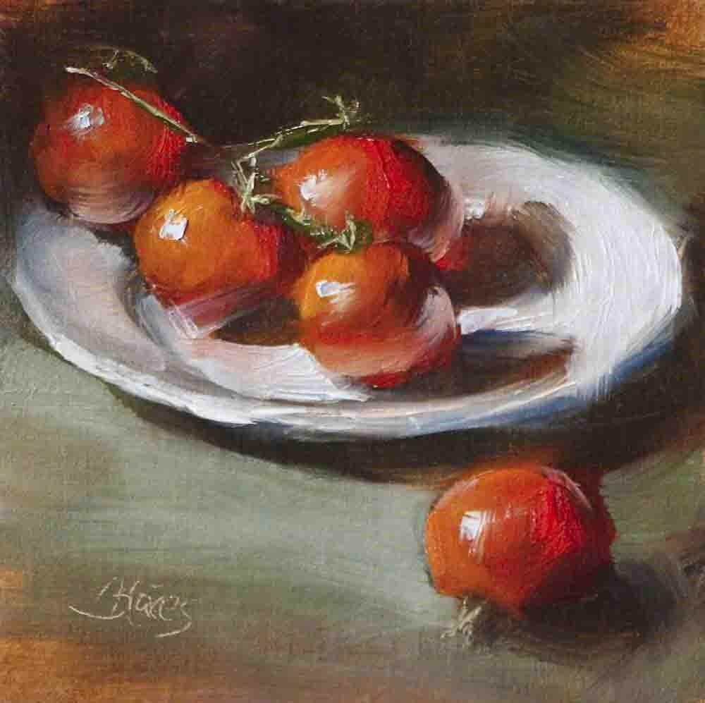 """Campari Tomato Cuties"" original fine art by Pamela Blaies"