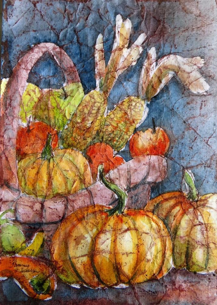 """""""Harvest Basket"""" original fine art by Tammie Dickerson"""