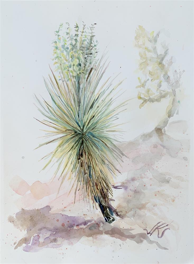 """Yucca with Cholla"" original fine art by Jean Krueger"