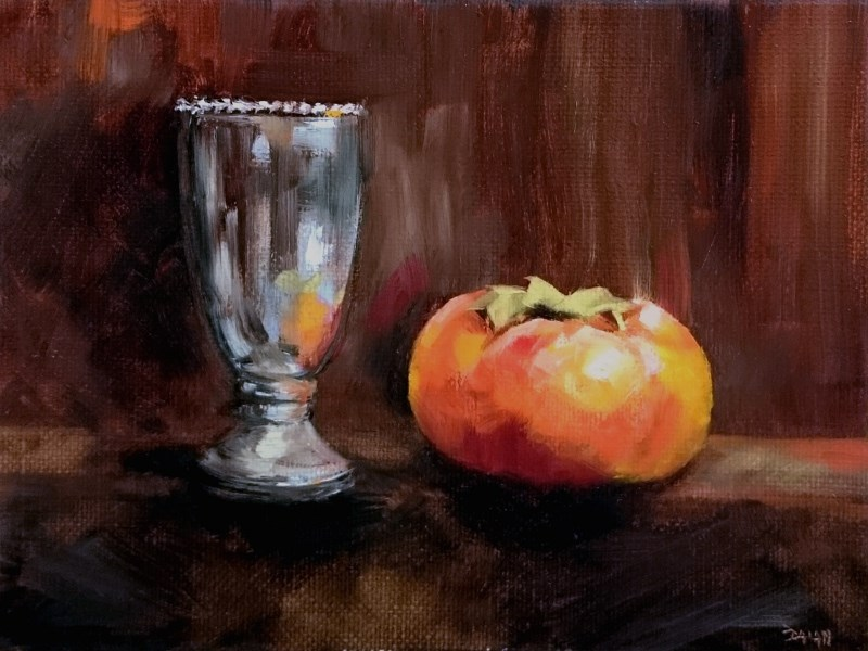 """""""Persimmon And Silver"""" original fine art by Dalan Wells"""
