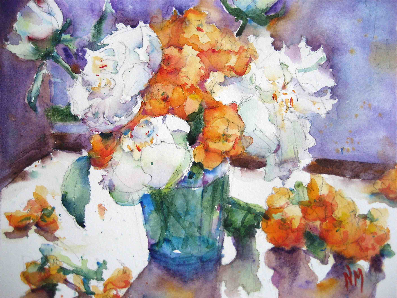 """orange blossoms"" original fine art by Nora MacPhail"