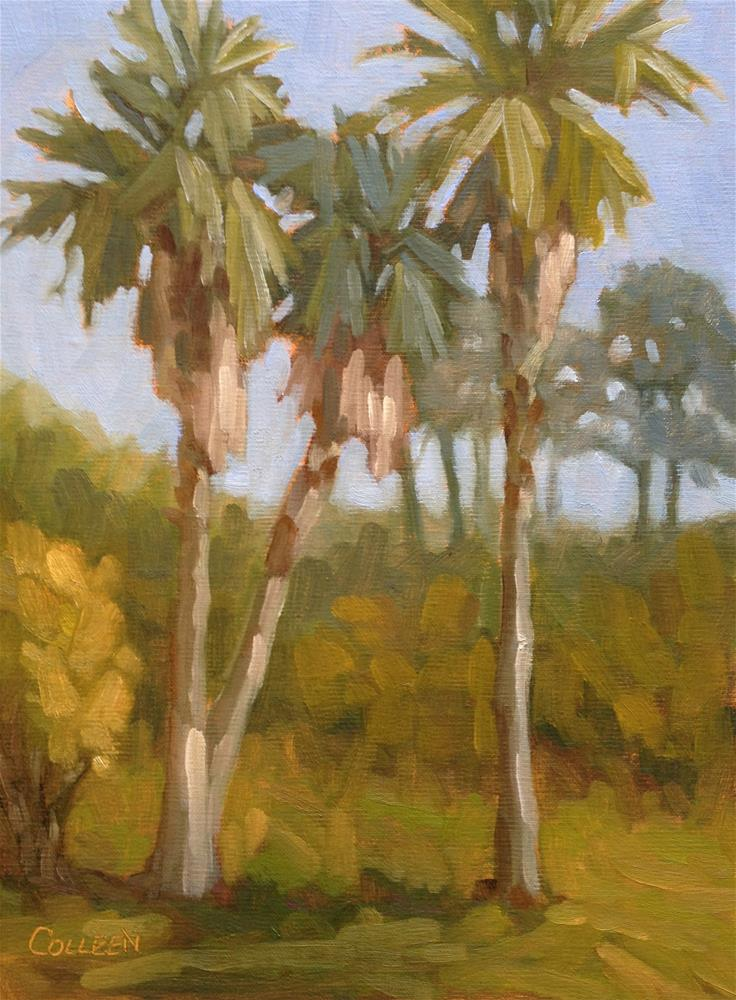 """Three Palmettos"" original fine art by Colleen Parker"
