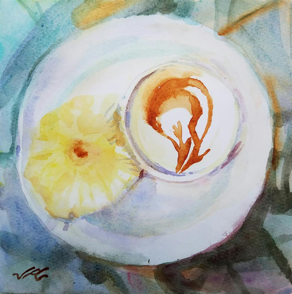 """Pineapple with Honey and Yogurt"" original fine art by Jean Krueger"