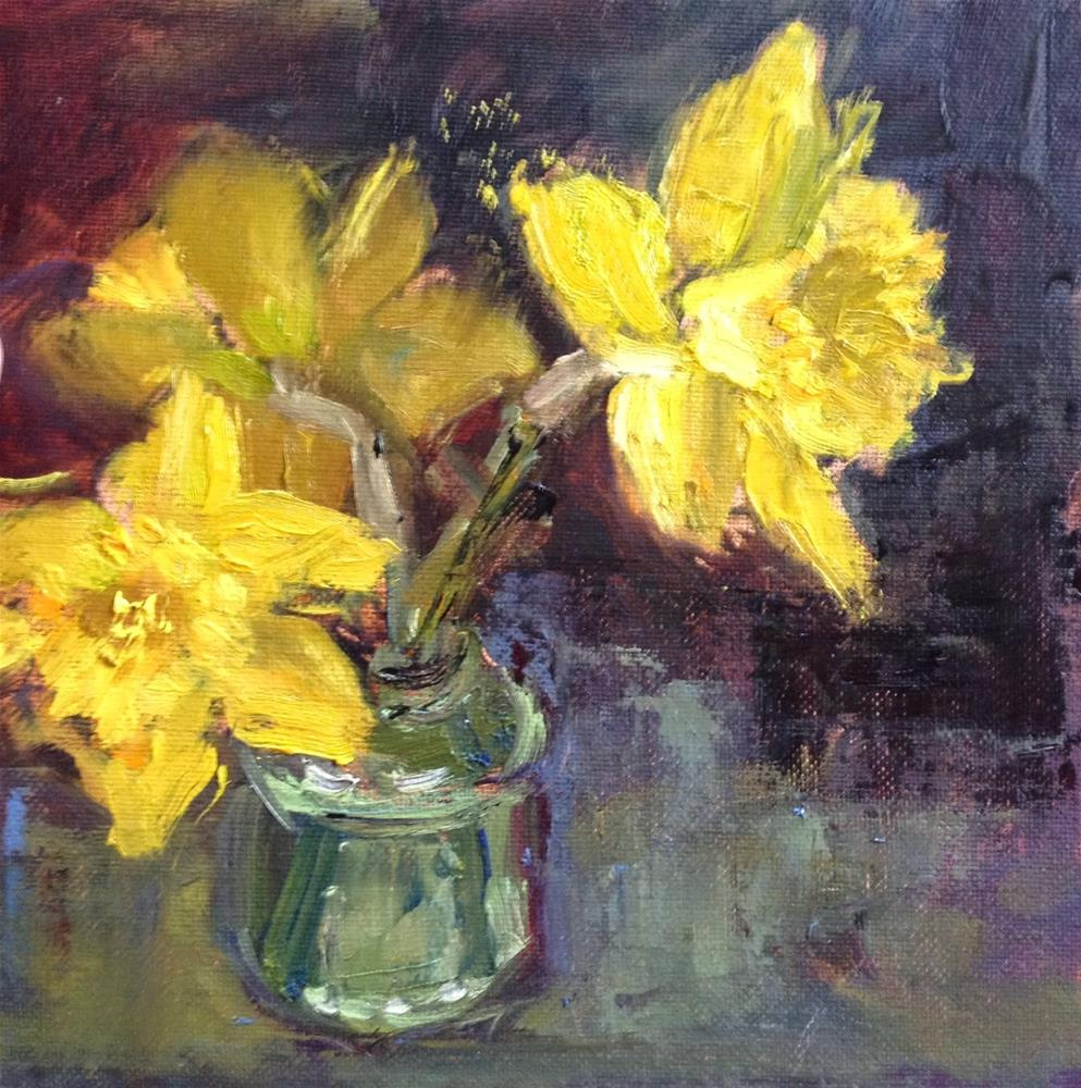 """Daffodils"" original fine art by Mo Teeuw"