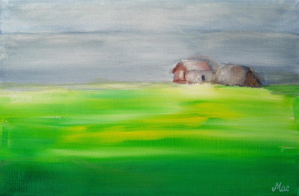 """Seashore House"" original fine art by Alina Frent"