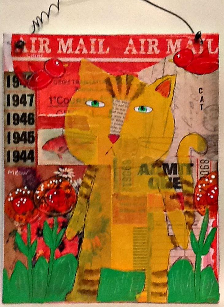 """""""CAT"""" original fine art by Cindy Zoglmann"""