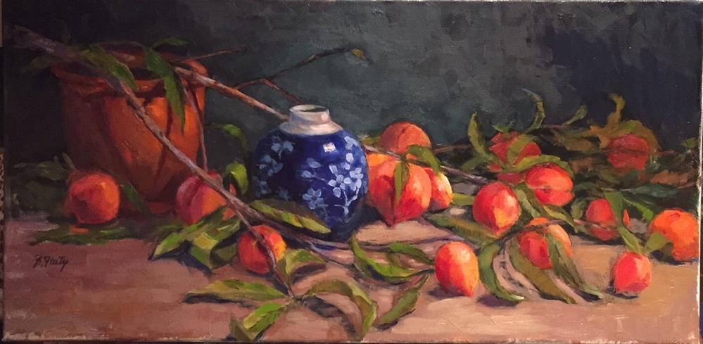 """Just Peachy"" original fine art by Barbara Fluty"