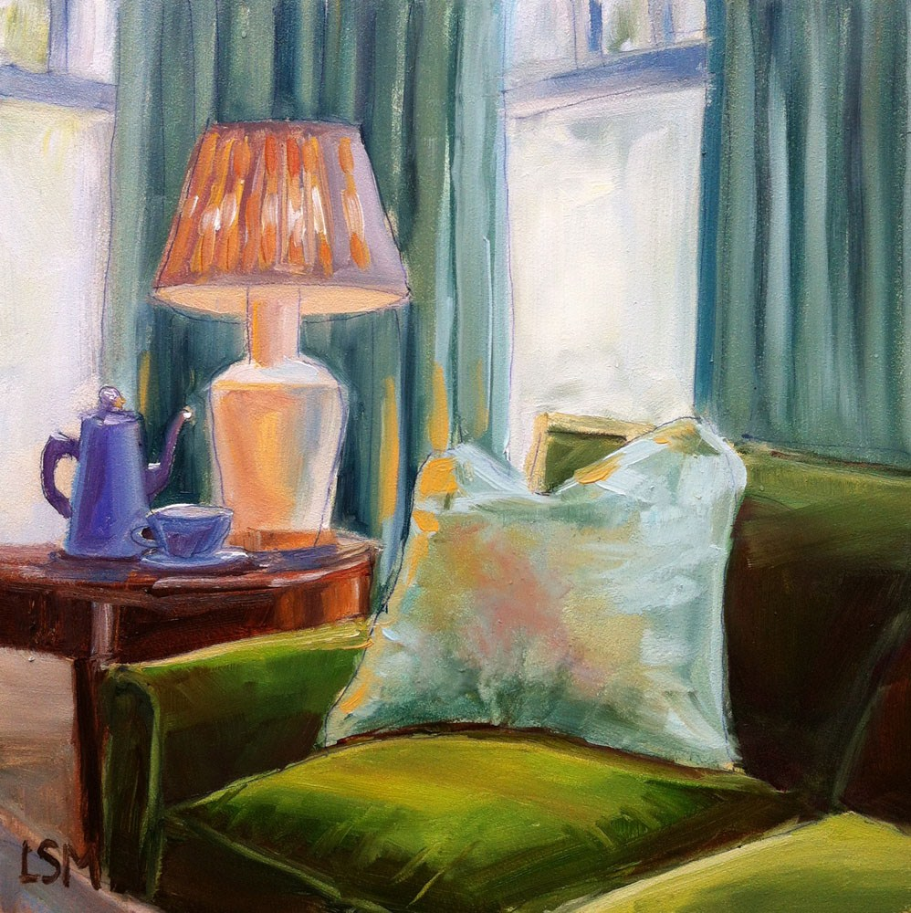 """Resting in Green Pastures"" original fine art by Linda Marino"