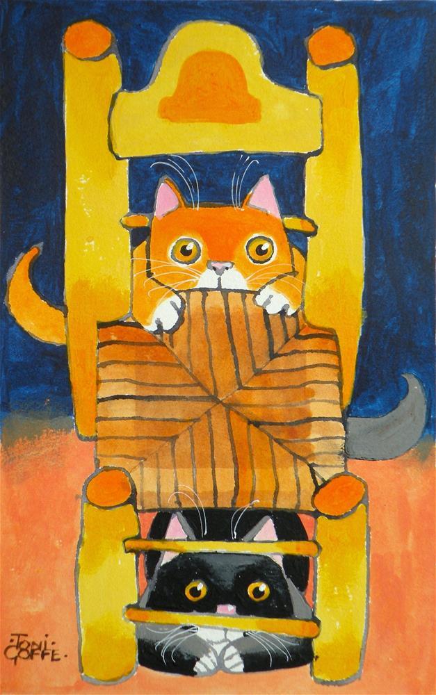 """""""Van Gogh's Cats"""" original fine art by Toni Goffe"""