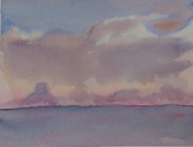 """Sunset Over the Gulf"" original fine art by Maria Peagler"