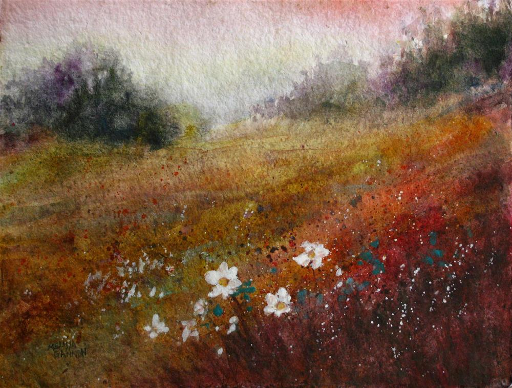 """Fields & Flowers"" original fine art by Melissa Gannon"