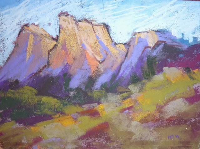 """How To Prepare Pastel Paper for Plein Air Painting"" original fine art by Karen Margulis"