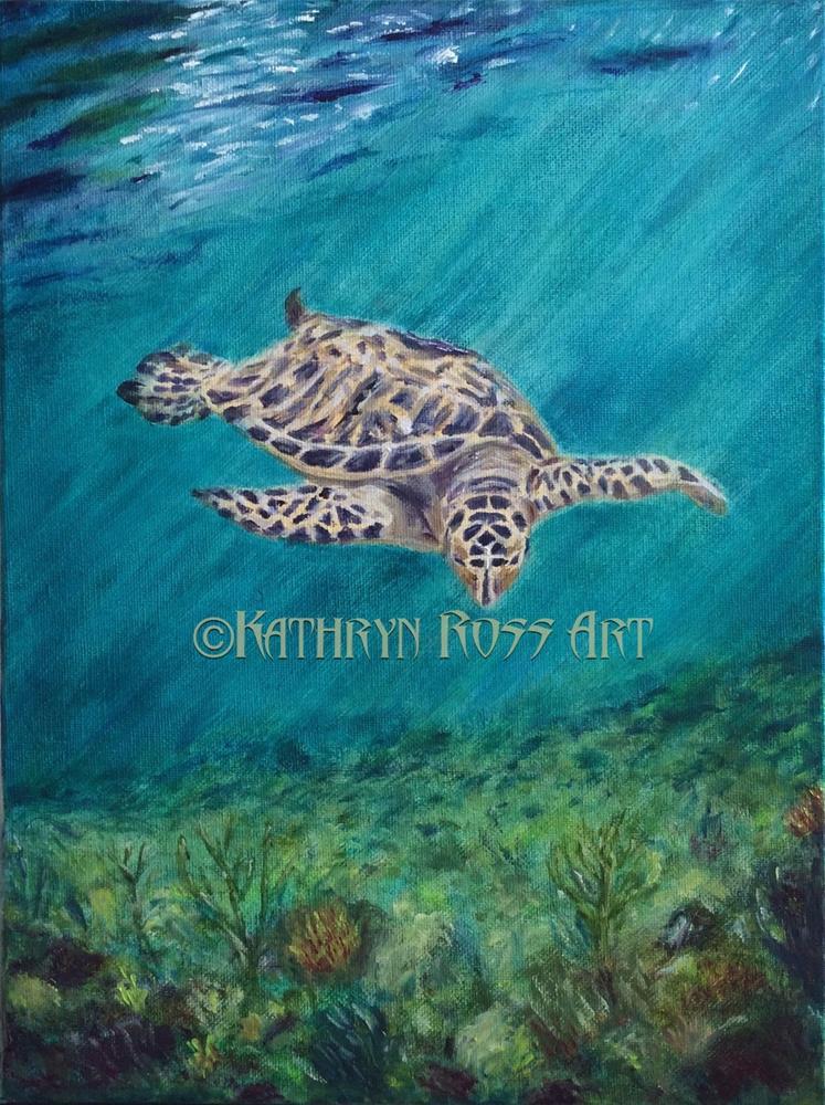 """""""Floating"""" original fine art by Kathryn Ross"""