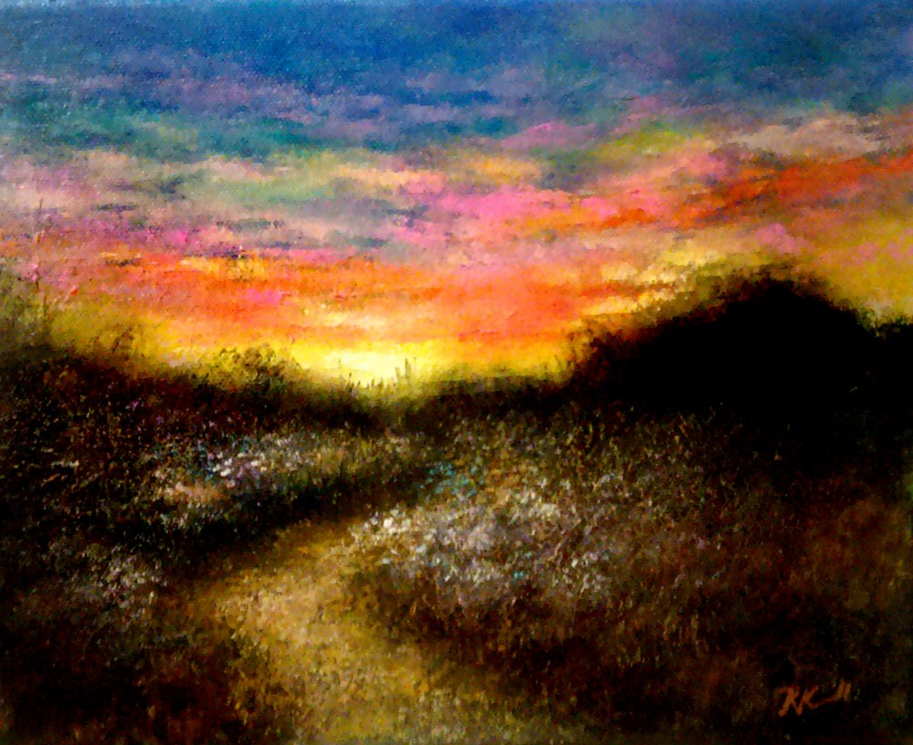 """Sunrise"" original fine art by Bob Kimball"