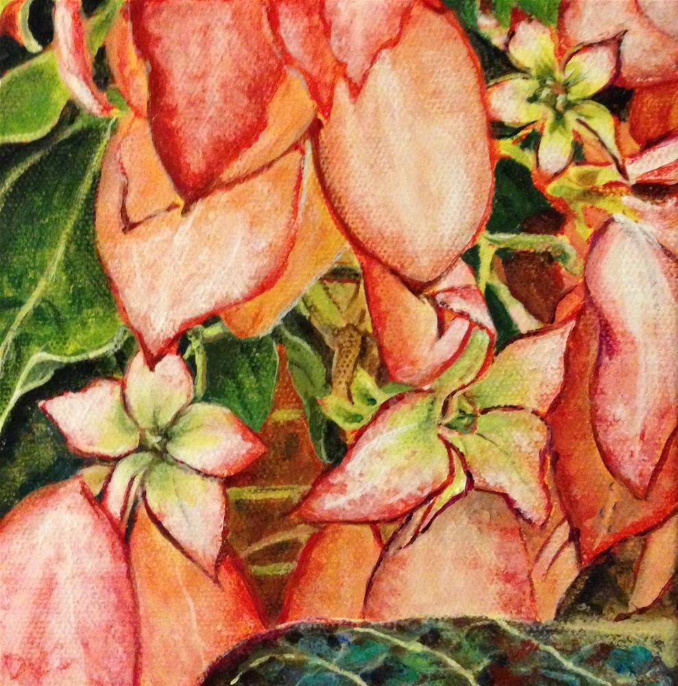"""Wallflowers"" original fine art by Debbie Yacenda"