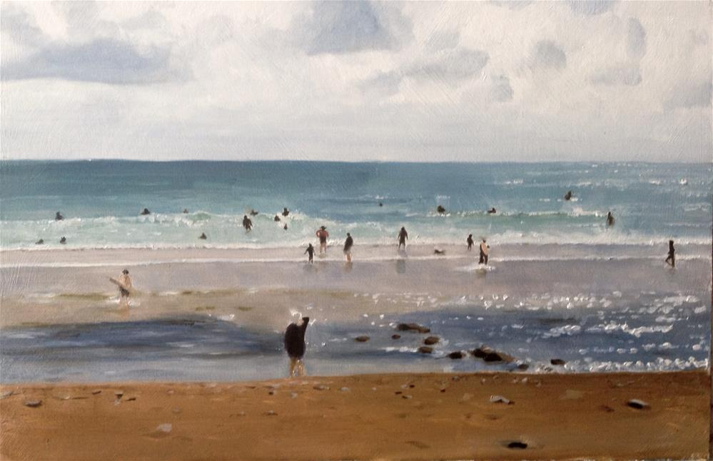 """""""A Day at the Beach"""" original fine art by James Coates"""