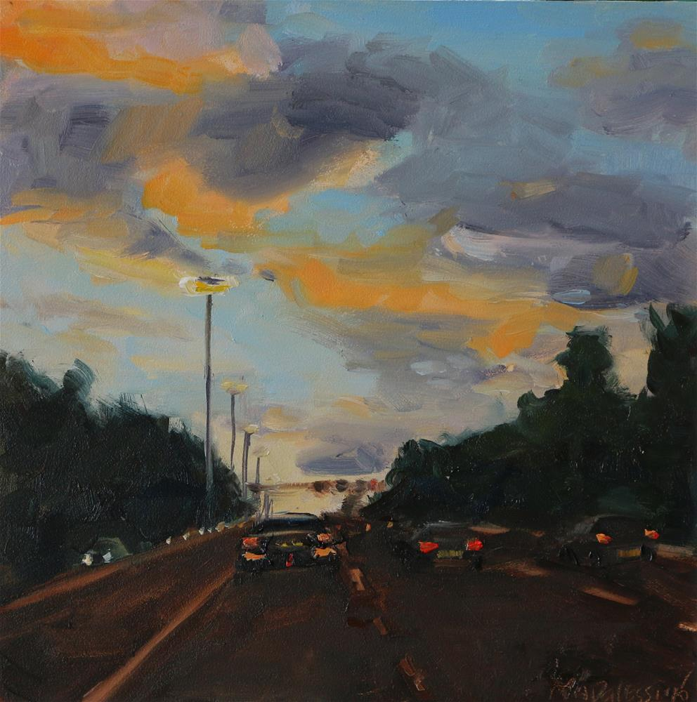 """On the highway"" original fine art by Miranda Dalessi"