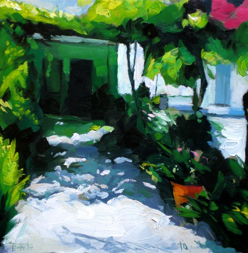 """Courtyard´s shadows"" original fine art by Víctor Tristante"