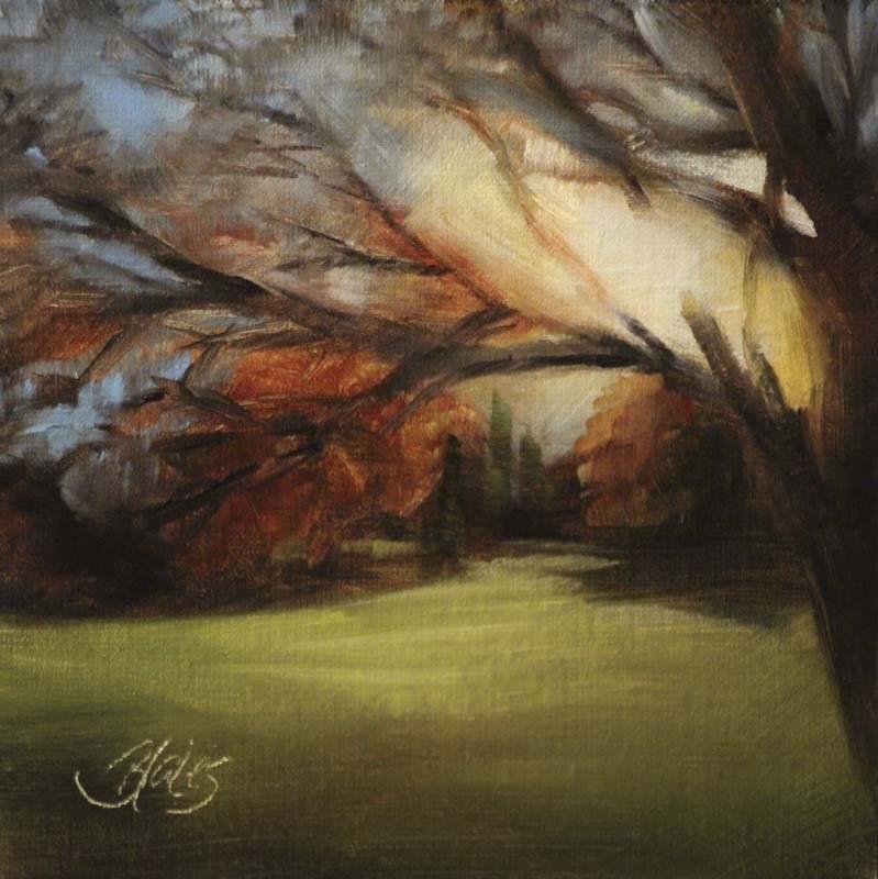 """""""Sunset Stroll"""" original fine art by Pamela Blaies"""