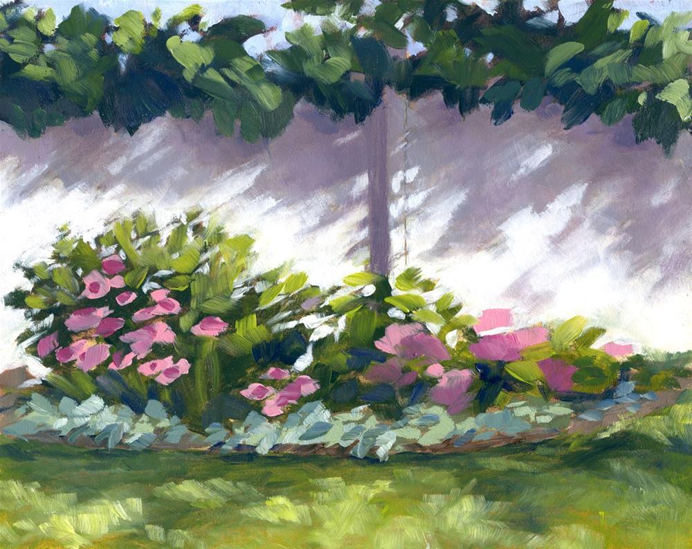 """""""Orleans Garden"""" original fine art by Eileen Hennemann"""