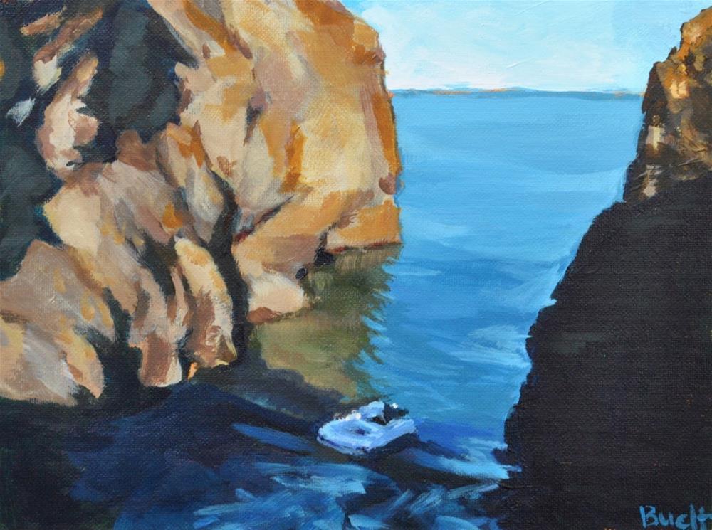 """""""Hidden Cove"""" original fine art by Shari Buelt"""
