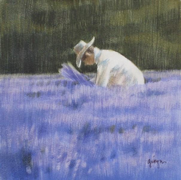 """Lavender Picker 2"" original fine art by Ginger Pena"