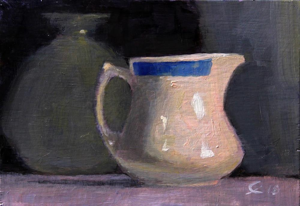 """Cream Pitcher"" original fine art by Ron Ferkol"