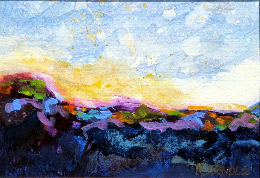 """Landscape 2 - 12017 (2 of a series of 4)"" original fine art by Nancy Standlee"