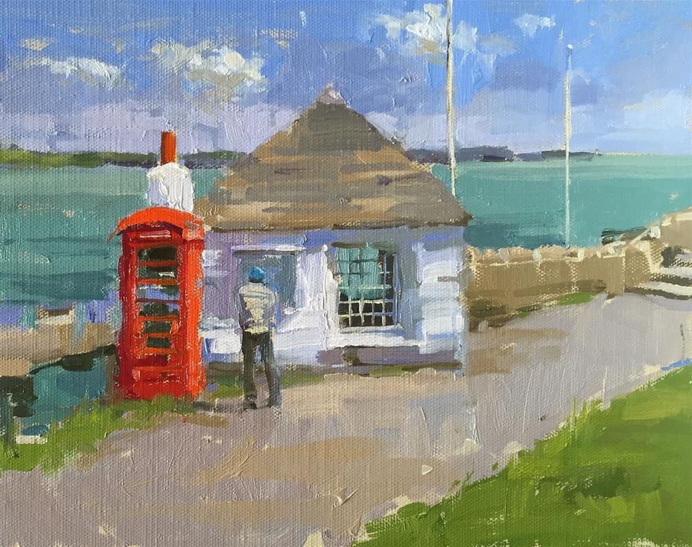 """Fisherman's shelter"" original fine art by Haidee-Jo Summers ROI"