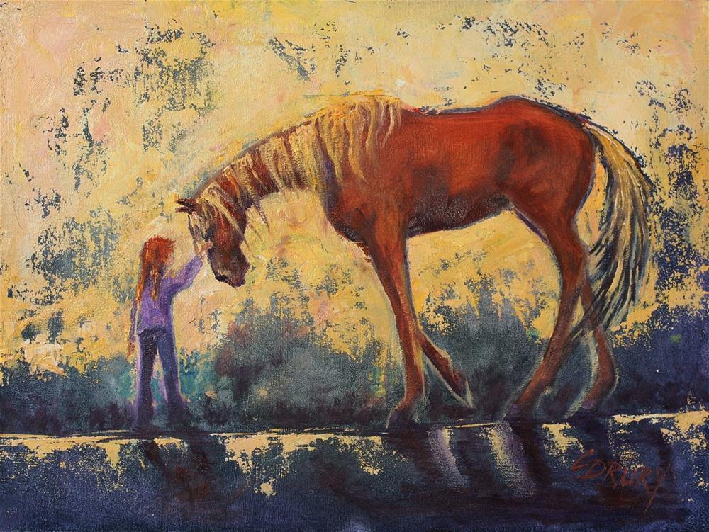 """My Little Girl"" original fine art by Colleen Drury"