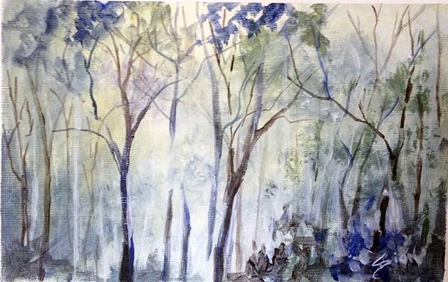 """Woods II"" original fine art by Sue Dion"