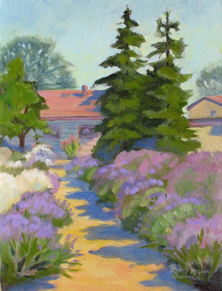 """English Lavender"" original fine art by Rhett Regina Owings"