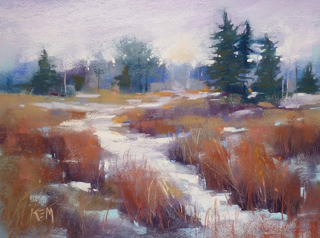 """""""Be Open to Inspiration for a Painting... pastel demo"""" original fine art by Karen Margulis"""