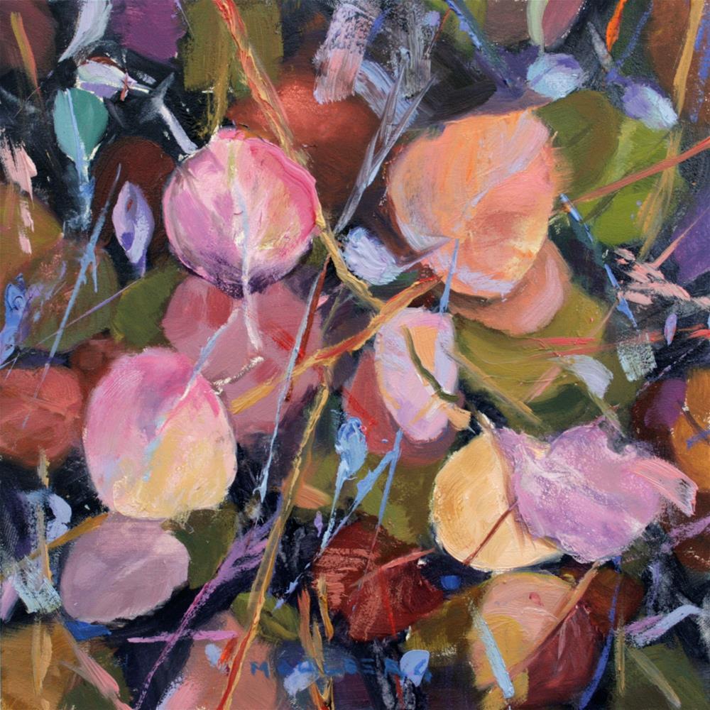 """Contrast Leaves"" original fine art by Cynthia Mahlberg"