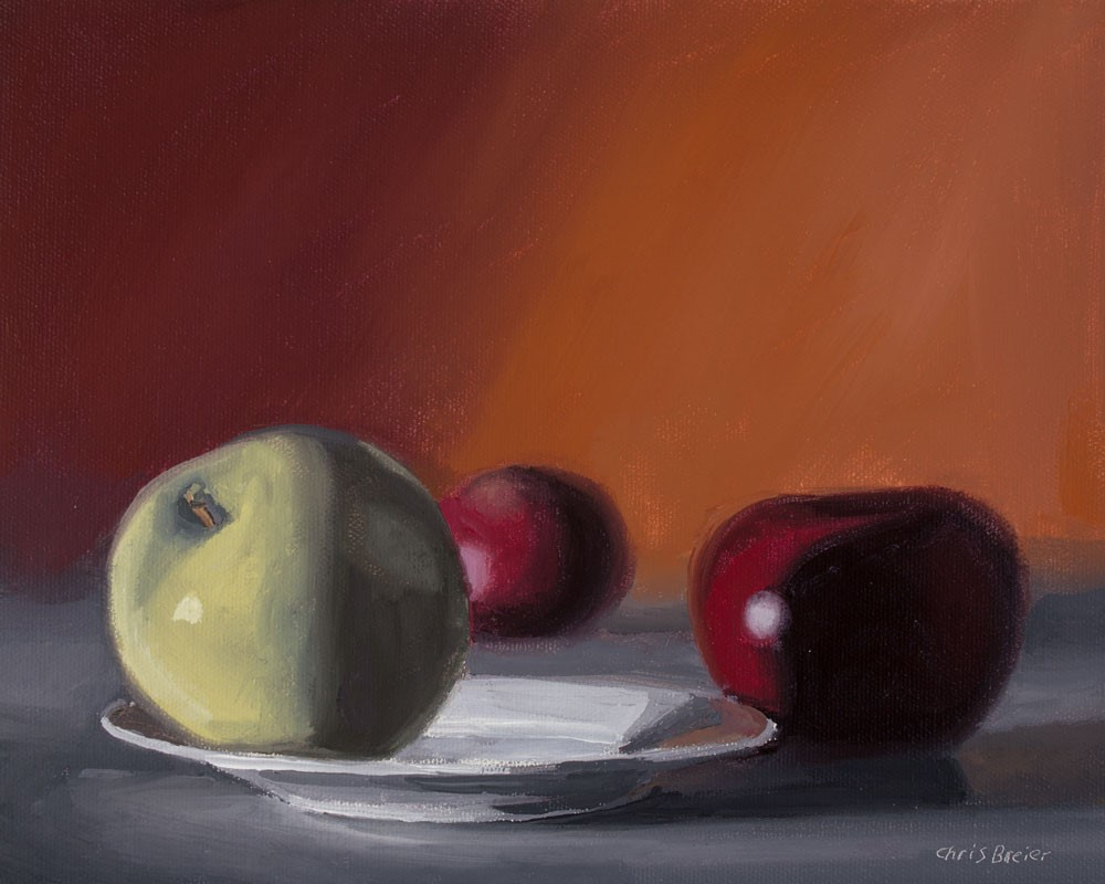 """Granny Smith With Two Macs"" original fine art by Chris Breier"