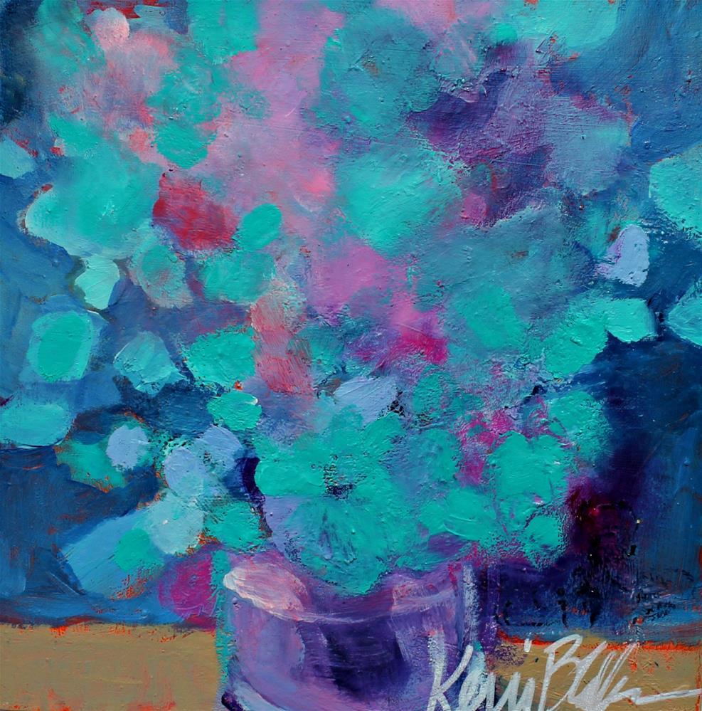"""Blue Bouquet "" original fine art by Kerri Blackman"