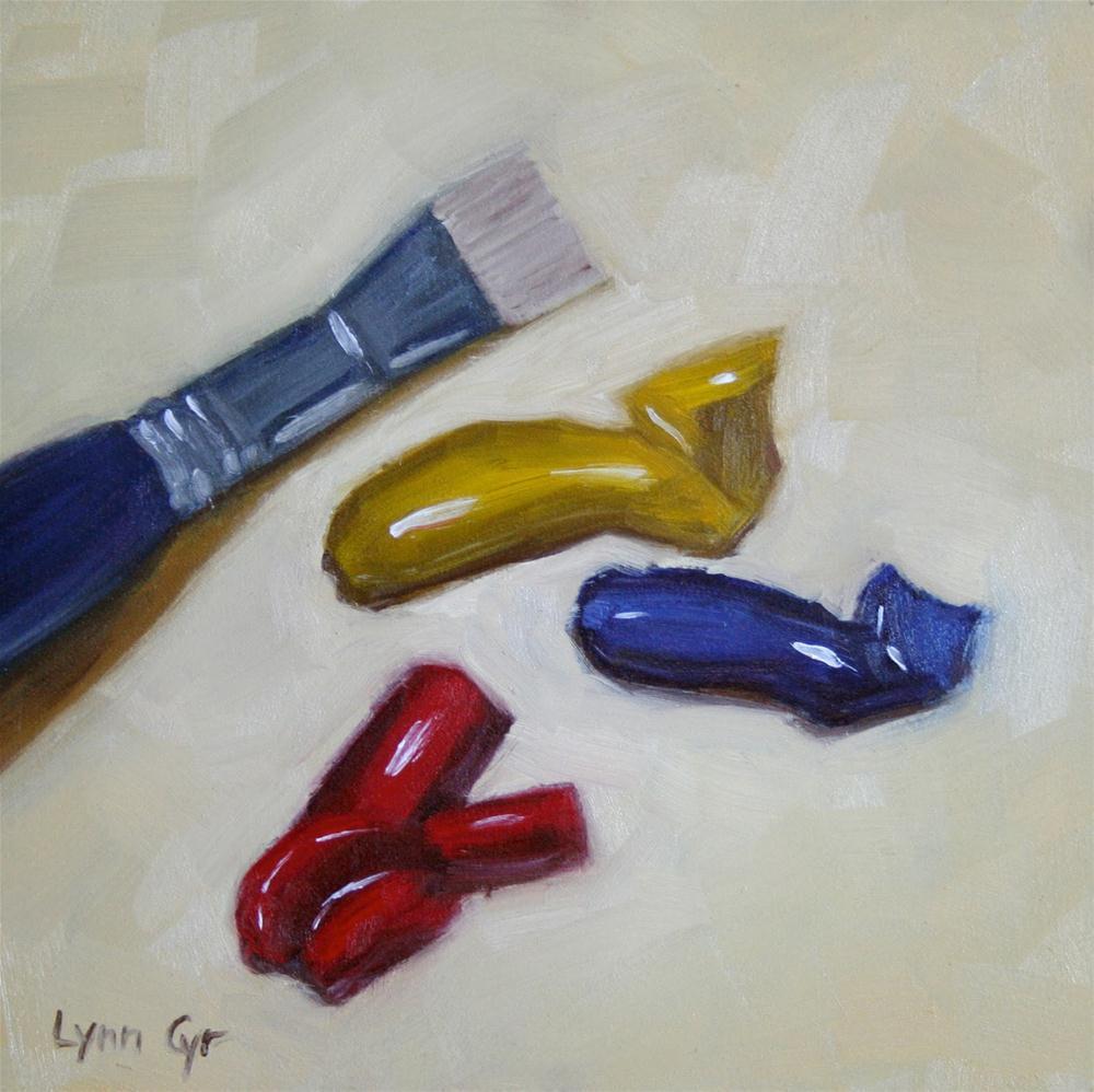 """""""Ready to Mix"""" original fine art by Lynn Cyr"""