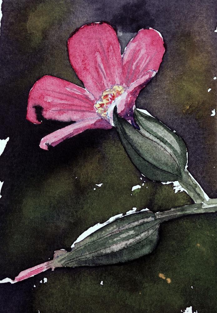 """""""Pink flower"""" original fine art by Eileen Hennemann"""
