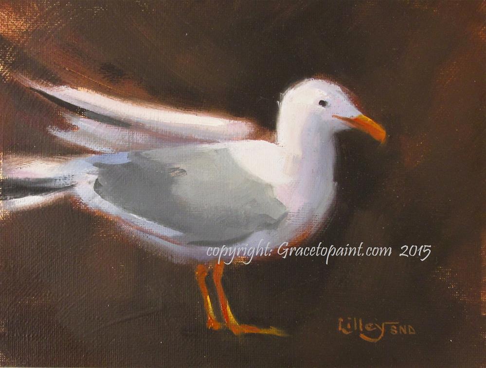 """JL Seagull"" original fine art by Maresa Lilley"