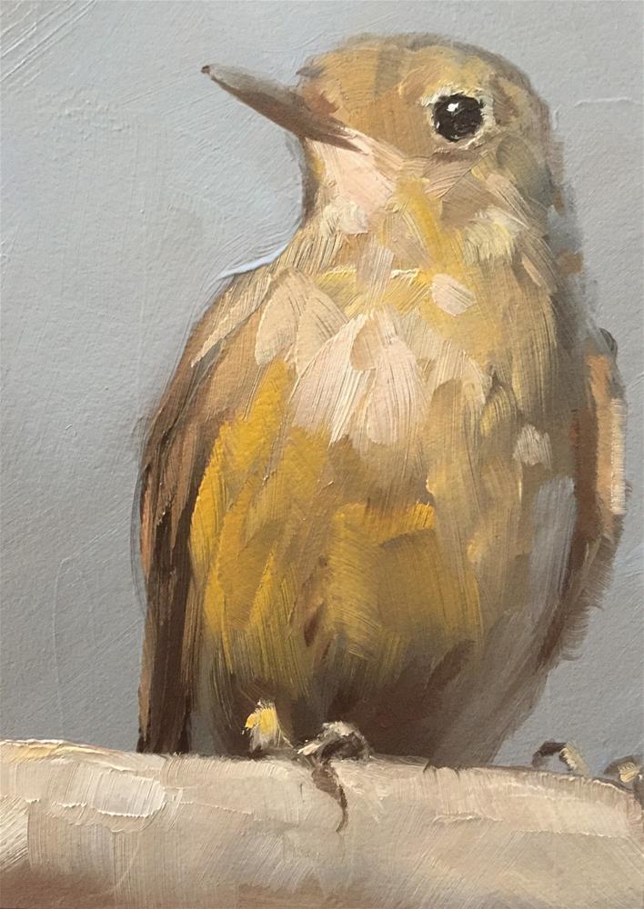 """Little Brown Bird"" original fine art by Gary Bruton"