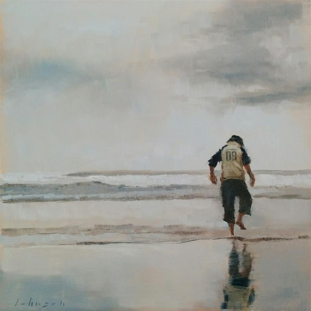 """Paddling"" original fine art by Dan Johnson"
