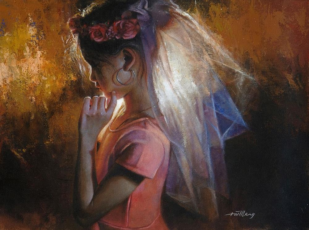 """Deep In Thoughts"" original fine art by TaiMeng Lim"